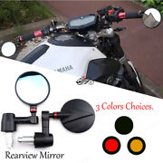 Handle Bar End Rearview Side Mirrors Round For Ducati 848 899 1098 1198 1199 749
