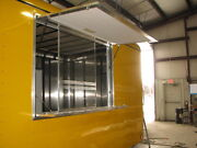 36 T X 36 W Enclosed Trailer Truck Concession Window And Screens In White