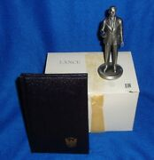 Lance Fine Pewter American President Figurine Gerald Ford With Box/book