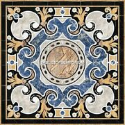 36 Traditional Marble Bedroom Side Table Marquetry Real Inlay Home Decor H5288