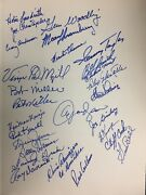 Ny Mets 25 Years Of Baseball Magic Book Signed By 28 1962 Mets Jsa Letter