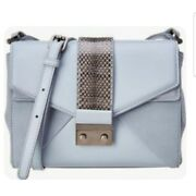 Alexandra Clancy Light Blue Grey With Quince Suede And Watersnake Italian...