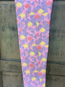 Nwt Lularoe Kids Leggings Size L/xl Pink, With Blue Yellow And Red Print