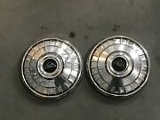 2 Pc Chevrolet Poverty Dog Dish Center Cap Hubcap 9 1/2 1962