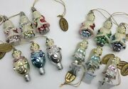 Katherineand039s Collection Victorian Vintage Style Lot 12 Christmas Ornaments Rf969