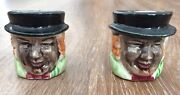 """2 Mini Character Toby Mugs 2"""" Tall Made In Japan"""