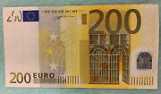 200 Euro Banknote 2002andnbsp Prefix-x Germany Draghi Sign And Duisenberg Sign