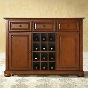 Alexandria Buffet Server/sideboard Cabinet With Wine Storage, Classic Cherry