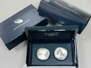 2012 U.s. Mint American Eagle San Francisco Two-coin Silver Proof Set
