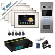 Video Intercom Entry 5 Unit System For Apartment Building|home Security Ip Kit