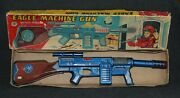 Modern Toys Eagle Machine Space Gun Battery Operated Tin Japan 1950s Boxed