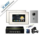 2 Monitor Home Security Apartment Entry Monitoring Ip Video Intercom System Kit
