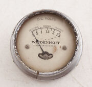 Weidenhoff Dc Volts Gauge For Parts Or Repair E2l Steampink Cracked Case
