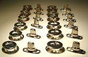 Twist Fastener Turn Button W/ Eyelet Prong Grommet And Washer Double Post 12 Sets