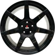 Project 6gr Type And039sevenand039 Wheels Set Of 4 Gloss Black 19x9.5 5x108 42mm 63.3mm