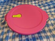 New Set Of Four 2-1/2 Cup Round Crystalwave Tupperware Bowls Fuschia Microwavab