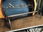 Childrenand039s Vintage Hand-bent Hand-welded Metal Old School Playground Toy Or Phot