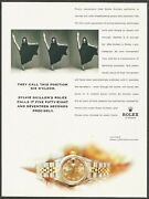 Rolex Watch-they Call This Position Six O'clock-1999 Print Ad