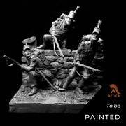 95tg Rifle Brigade At Waterloo Painted Toy Soldier Pre-sale   Art Quality