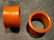 Set Of Two Bakelite Butterscotch / Toffee Colored Round Napkin Rings