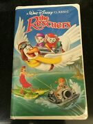 Disney The Rescuers Black Diamond Classic Vhs Movie In Clam Shell Case