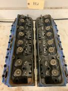 1970's Chevy Small Block 333882 Cylinder Heads Pair 619