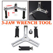 3-jaw Auto Car Fuel Pump Lid Tank Cover Remover Spanner Adjustable Wrench Tool