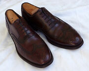 Moreschi Burgundy Wingtip Oxfords. Us Size 9m. Italy. Nice Condition.