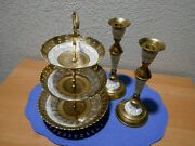 Maitland Smith 3 Tier Bowl Trinket Stand Decorative Hand Made In India