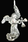 Angel With Double Horns Sterling Silver Christmas Ornament