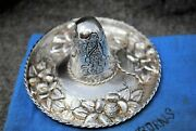 Sanborn Mexico Sterling Silver Sombrero Hat Floral Pin Dish