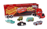Disney Pixar Cars Mack Carrier With 5 Diecast Cars 143 Scale Brand New 24 Long