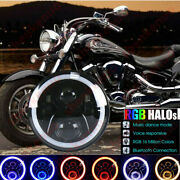 7and039and039 Led Rgb Headlight For Yamaha V-star Xvs 650 950 1100 1300 Classic Stryker 1x
