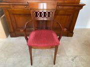 Authentic Roche Bobois Provenandccedilal Solid Cheery Wood Kitchen Dining Chairs 4