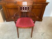 Authentic Roche Bobois Provincial Solid Cheery Wood Kitchen Dining Chairs 4