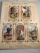 10 Victorian German Advertising Trade Cards W/ Insert Page Reese Wichmann Litho