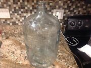 Embossed Absopure Water 5 Gallon Lt Blue Glass Bottle Jug Carboy