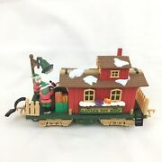 Holiday Express Animated Santaand039s Toy Shop Caboose G-scale Train Car New Bright