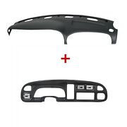 For 98-02 Dodge Ram Pickup Pp Dash Bezel And Dashboard Cover Overlay W/ Vents