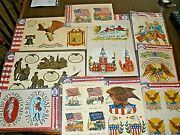 Lot Of 10 Packages Nos Vintage Bicentennial 1976 Commemorative Decals Meyercord