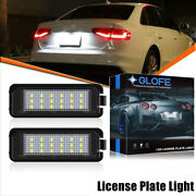 2x Canbus Led License Plate Lights For Vw Gti Golf Cc Rabbit Porsche Oem-replace