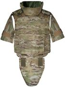 Xl Body Armor Tactical Vest Iii-a Made With Kevlar Waterproof Inserts Included