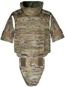 Xl Body Armor Tactical Vest Iii-a Made With Kevlar Waterproof, Inserts Included