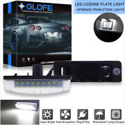 Hid White Led License Plate Light For Lexus Is Gs Es Rx Toyota Prius Oem-replace