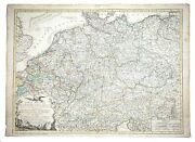 Large Antique French Map German Empire 1792 Colored By Poirson Engraver Basset