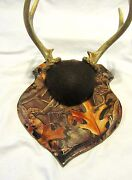 Whitetail Woodcrafters Shield Taxidermy Deer Antler Mounting Plaque- Camo Wood