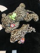 Freckles Beanie Baby Rare Small And Large Collectible Set 2