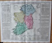 1829 Antique Map- Lavoisne-geographical And Statistical Map Of Ireland