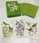 Vintage Winged Beauties Bird Greeting Cards Lot With Box Made Usa Sunshine Note