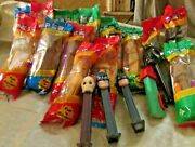 Pez Starwars,batman,truck Lot Of 14 Pez Dispensers Some New Some Used